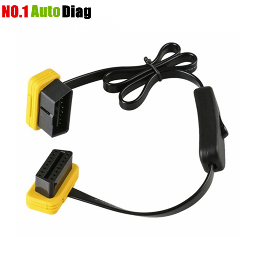 Autool 60CM Auto OBD2 OBDII 16 Pin Extension Cable Male to Female with Switch Car Diagnostic Extender Connector Adaptor