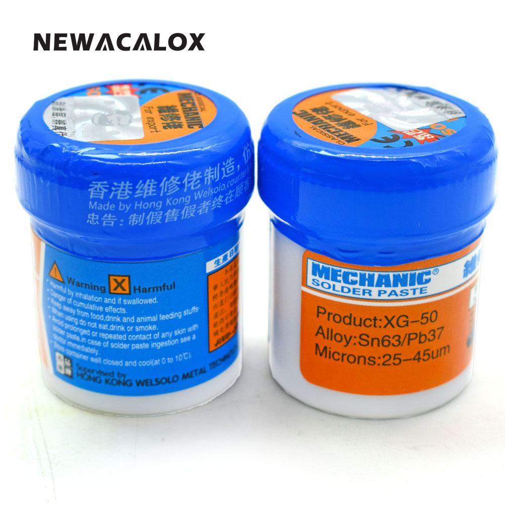 MECHANIC Solder Paste Flux XG-50 Sn63/Pb67 SMD SMT For 936 852D+ BGA Soldering Iron Station Repair Welding Tool 2pcs/lot 50ml empty liquid plastic flux bottle for dispenser rosin solder flux paste 11 needles tool parts random color
