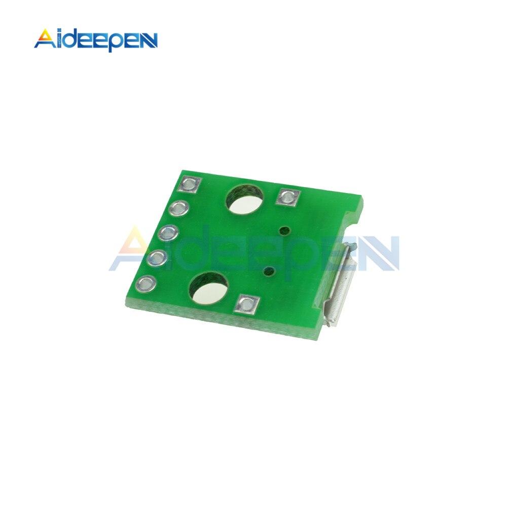 5 USB Buchse Female zu 5PIN DIP Adapter 2,54mm Breadboard Modul für Arduino 1