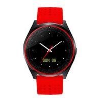 2017 Лидер продаж V9 Мода Bluetooth Смарт часы Поддержка шагомер громкой связи синхронизации MP3 Динамик sim-карта TF наручные часы для мобильных