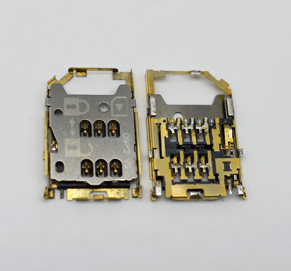 5pcs/lot Original Sim Card Reader Holder Socket For Nokia C6-01/ E5/ X5-01 used slot socket connector Free shipping