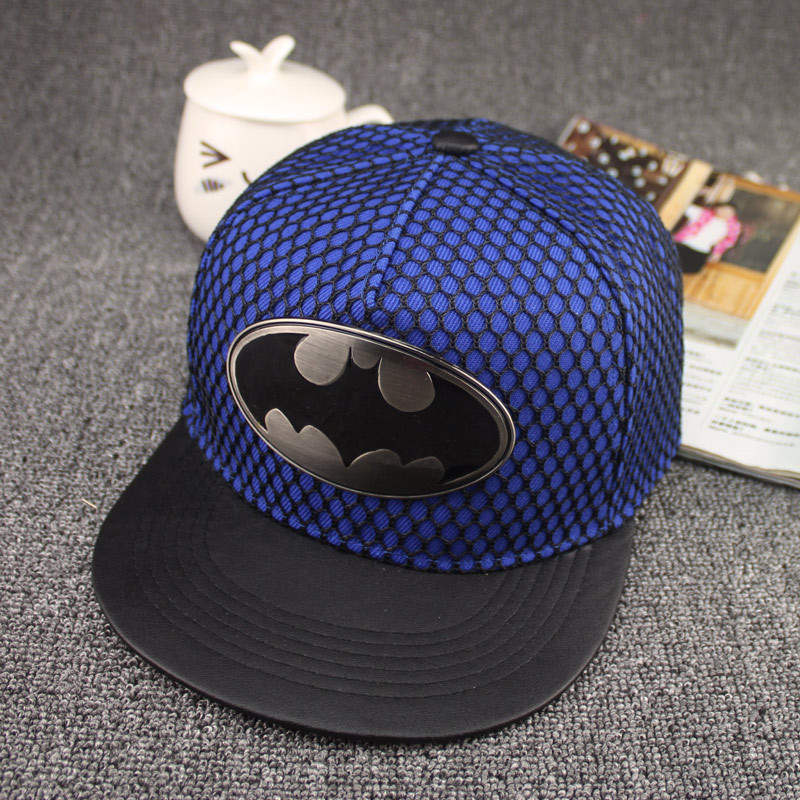 Hot brand snapback hats Wholesale Batman New fashion cotton Net couple Cap women leather Hip-hop hat man Skate Hat Baseball Caps