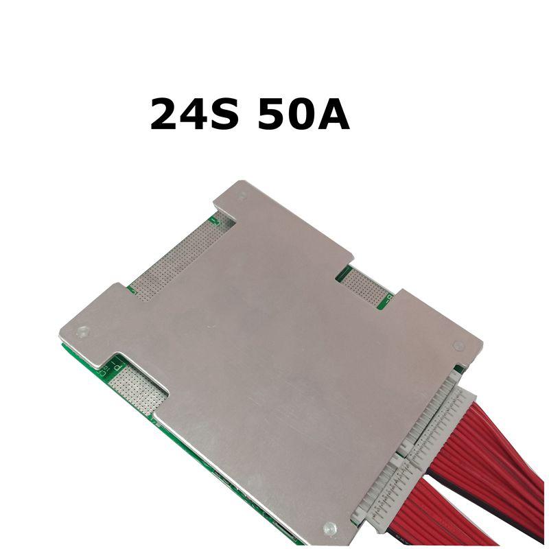 24S 50A batterie au Lithium fer phosphate BMS/LiFePo4 panneau de Protection de pâte avec Balance nouvelle mise à jour