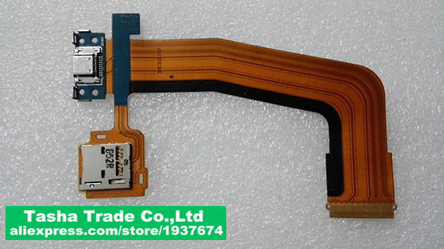 For samsung SM-T805 Tab S 10.5 LTE T805 Original Micro USB Connector FLEX Cable Charging Connector Ribbon Memory Card FLEX