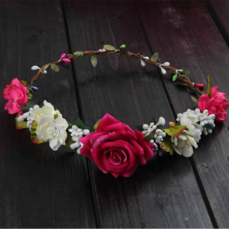 Wreath Girl Head Flower Crown Bridal Hair Accessories