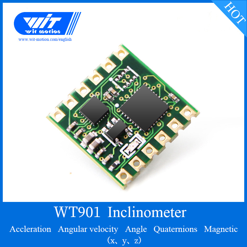 US $19 95 5% OFF|WitMotion WT901 Sensor MPU9250 Module 3 axis Accelerometer  Gyroscope Angle Magnetic Field TTL & I2C Outout For PC/Android/MCU-in