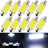 Bombillas LED de coche 10 unids/lote 31mm 36mm 39mm 41mm coche COB 1,5 W DC12V lámpara Interior Luces de lectura interiores bombilla