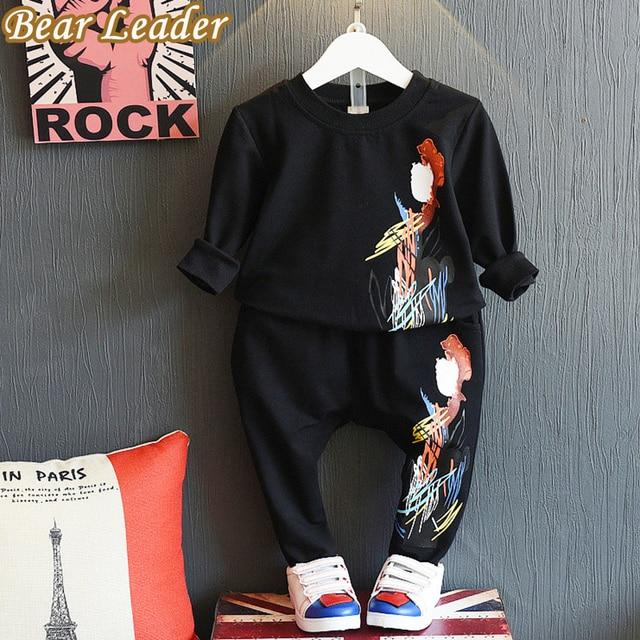 Bear Leader Boys Clothing Sets 2016 Autumn Active Kids Clothing Sets Long-sleeve Pattern Printing T-shirt+Pants 2pcs Boy Clothes
