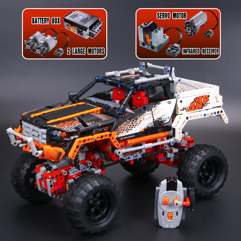 IN STOCK LEPIN 20014 1386Pcs Technic Series 4X4 Crawler Vehicles Model Building Kit Blocks Bricks Toys Gift With 9398