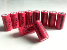 16340 rechargeable lithium battery 2300mAh For Torch Flashlight 3.7v flashlight