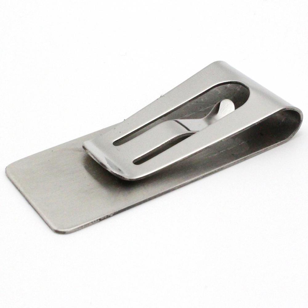 1 adet paslanmaz çelik Metal para kıskacı moda basit gümüş dolar nakit kelepçe tutucu cüzdan erkekler kadınlar için ücretsiz kargo