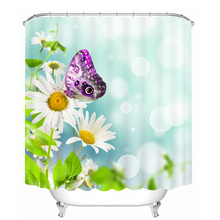 myru 3d print waterproof butterfly shower curtains bath products bathroom decor with hooks
