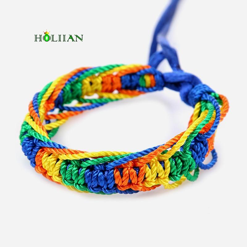Cheap brazilian bracelet multicolor braided boho chain bohemian tassel handmade sport chain friendship bracelets neon unisex