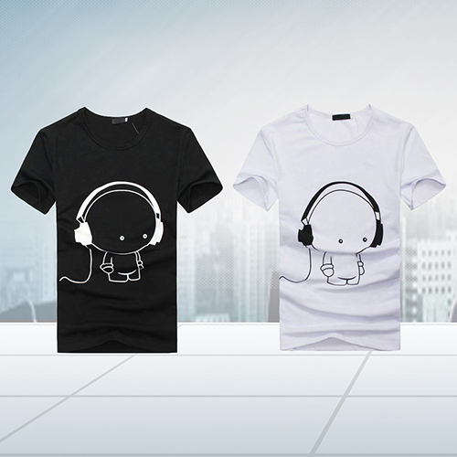 Arrival Men Summer Fashion Short Sleeve Cartoon Print T-Shirt Round Neck Slim Fit Top Fast Shipping