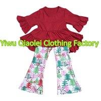 Moda de nova natal do bebê veste meninas caem boutique outfits crianças roupas por atacado