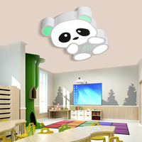 Детская лампа панда потолочный светильник светодио дный светодиодный Мультфильм спальня лампа детская комната креативный светодио дный л