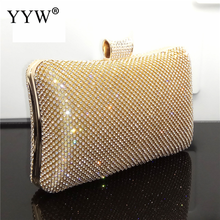купить Gold Women'S Crystal Gillter Evening Bag Retro Beaded Clutch Bags Wedding Diamond Beaded Bag Rhinestone Small Shoulder Bags по цене 1318.26 рублей
