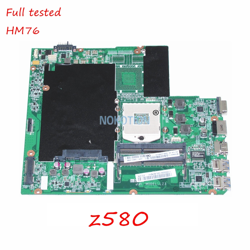 NOKOTION DA0LZ3MB6G0 Main board for lenovo ideapad Z580 laptop motheboard HM76 DDR3 11S90000921 Full tested laptop motherboard fit for lenovo z580 notebook pc main board daolz3mb6g0 90000921 11s90000921 ddr3 usb3 0