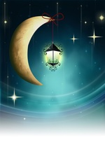 Laeacco Fairy Tale Crescent Moon Star Lamp Baby Photography Backgrounds Customized Photographic Backdrops Props For Photo Studio