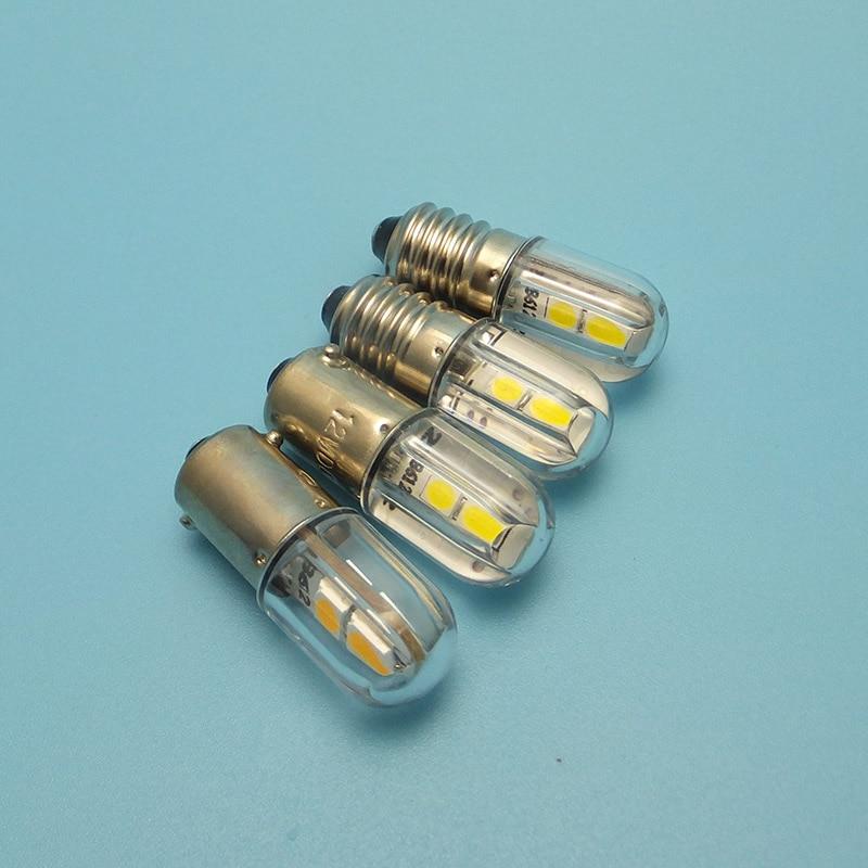 Image 4 - MIDCARS 6V t4w ba9s e10 LED LIndicator light 36V Bulb,H21W BAY9S 12V SMD LEDs/ 48V 24V to 60V Bulb wholesale-in LED Bulbs & Tubes from Lights & Lighting