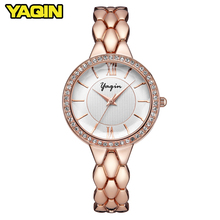 hot deal buy yaqin women's watches top luxury brand stripes women's quartz watches valentine gifts women's clock box montre femme