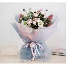 50 см* 5 лет/лот марлевые цветочные упаковки DIY декоративный кружевной букет крафт бумага подарочная упаковка сетка цветы оберточная бумага
