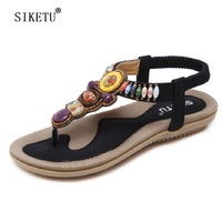 SIKETU New Arrival Women Sandals Summer Fashion Flip Flops Female Sandals Flat Shoes Causal Bohemia Ladies