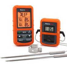 ThermoPro TP 20 النائية اللاسلكية الرقمية ميزان حرارة فرن مسبار من الفولاذ المقاوم للصدأ كبير شاشة بإضاءة خلفية مع الموقت
