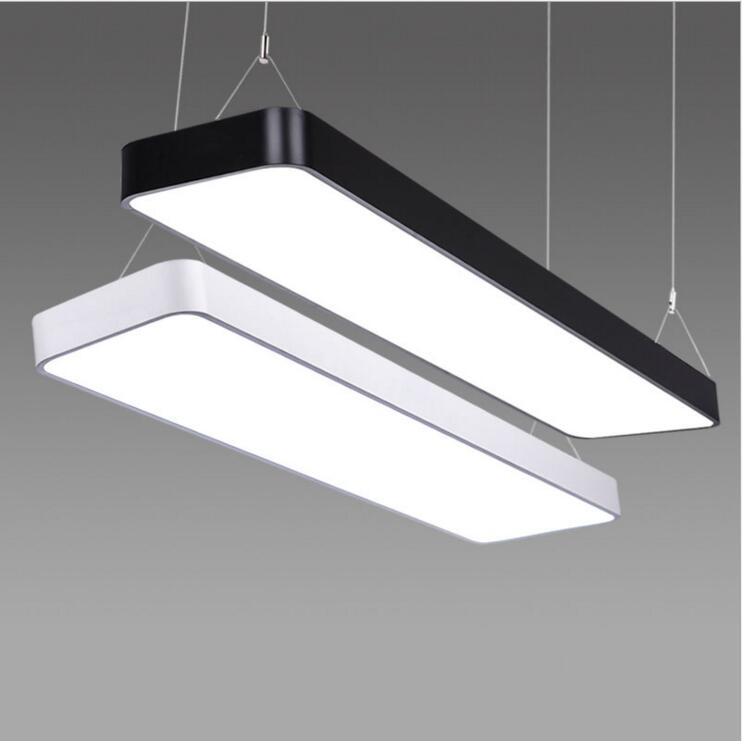 Office fillet led chandelier modern simple office lighting creative living room chandeliers clothing store lamps led lighting цена и фото