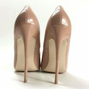 Image 2 - Женские туфли лодочки Keshangjia, брендовые туфли на высоком каблуке с острым носком и бантом