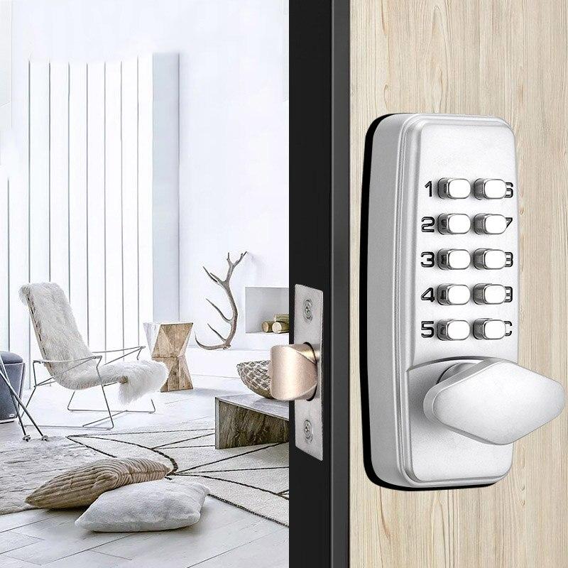 Security Digital Password Door Lock Mechanical Code Keyless Door Lock Waterproof