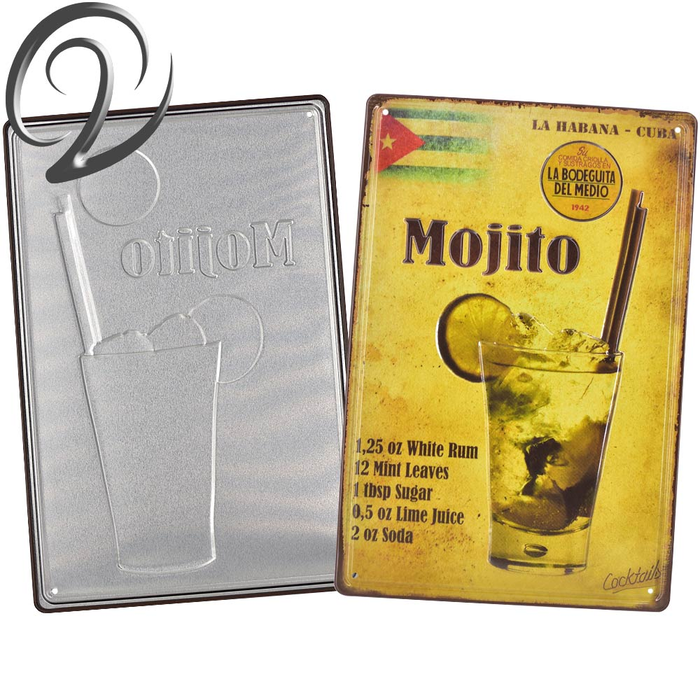 Vintage Metal Signs Mojito Martini Wine Poster Bar Pub Coffee Home Kitchen Wall Decor Art Crafts Decals