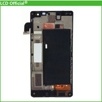 10PCS DHL Black For Nokia Lumia 730 735 LCD Display Touch Screen Digitizer Assembly With Frame