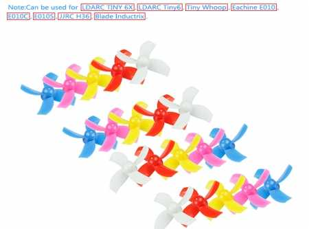 10Pairs LDARC 31mm 4 Propeller for TINY6 6X FOR JJRC H36 E010 Brushed FPV Racing Drone Quadcopter RC Racer