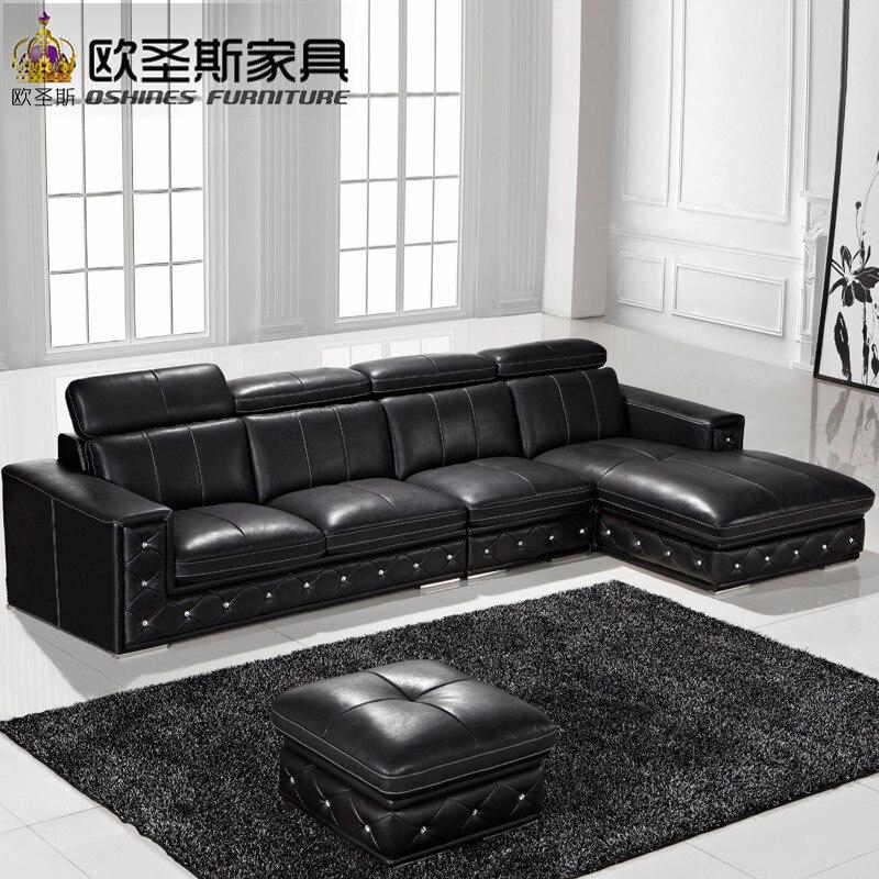 Sofa Set Online Latest Designs 2017 Black L Shaped Modern Corner Leather Germany