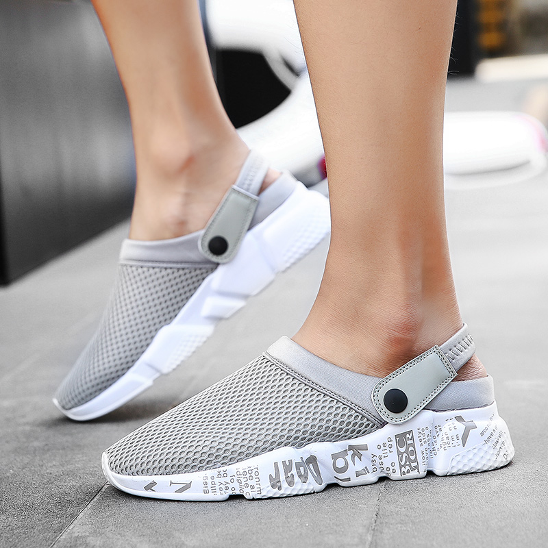Sandals Men Slippers Air Mesh Shoes Mules Clogs (52)