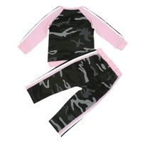 Autumn Toddler Kids Baby Girls Clothes Set Fashion Camouflage T-shirt Tops +Pants Outfits Clothing Sport Suit Children Tracksuit
