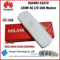 New Arrival Original Unlock LTE FDD 150Mbps HUAWEI E3272 4G LTE Modem Support LTE FDD 800/900/1800/2100/2600Mhz