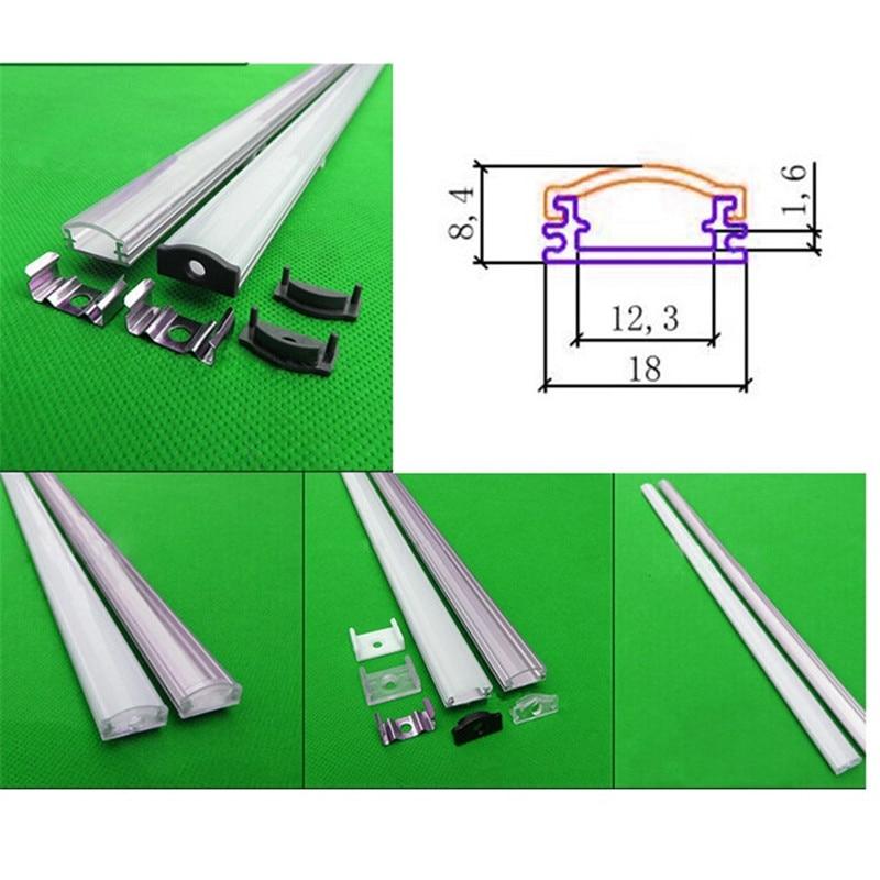 Perfil de aluminio de 10x1 m para tira led, lechosa / cubierta - Iluminación LED