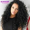 Não transformados Solto Curly Full Lace Cabelo Humano Perucas Glueless Virgens cabelo Peruano Parte Dianteira Do Laço Perucas Com Cabelo Do Bebê Cheia Do Laço peruca