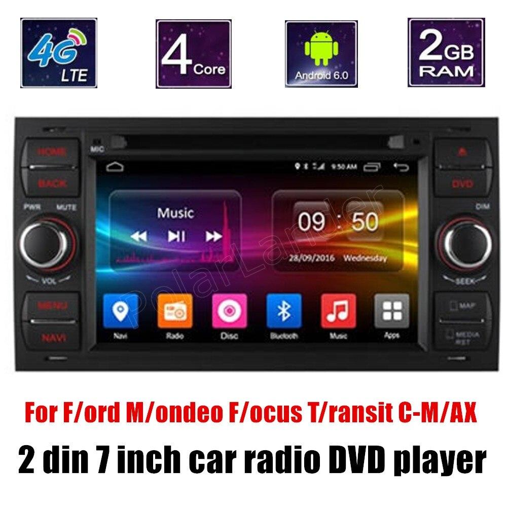 Pour Ford Mondeo Focus Transit CMAX voiture lecteur DVD voiture audio stéréo multimédia GPS commande au volant bluetooth