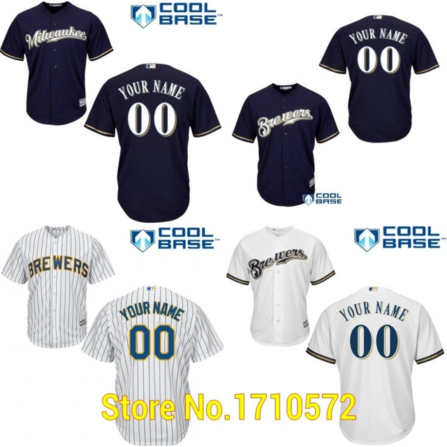 8d401da4e New Arrival Custom Milwaukee Brewers Youth Shirts Personalized Your Name  Number Kids Cool Base Baseball Jerseys Stitched Cheap