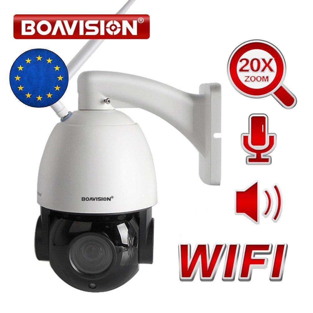 20X оптический зум 1080 P Беспроводная купольная Поворотная IP камера Wi Fi Открытый ИК 80 м в реальном времени 25fps видеонаблюдения Аудио говорить д...