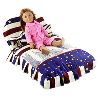 Miniature Doll Bed Furniture Living Room Dollhouse Accessories For 18 Inch Doll America Girl Gift Present Mini Sleeping Bedroom
