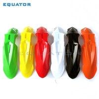 motorcycle Parts Plastic Black Front Fenders Supermoto Evo For dirt pit bike KX DRZ CRF KTM YZF WR DRZ400 RMX250 DT125 200