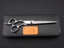 Dog grooming scissors Lyrebird 7INCH Left hand dog hair shears big blue stone with scissors bag or not 1PCS/LOT NEW