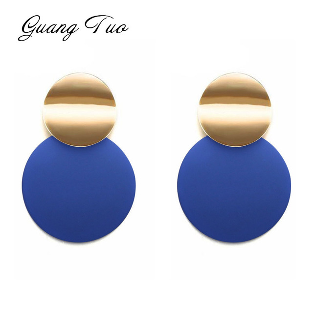Unique Black Stud Earrings Trendy Gold Color Round Metal Statement Earrings for Women New Arrival Fashion.jpg 640x640 - Unique Black Stud Earrings Trendy Gold Color Round Metal Statement Earrings for Women New Arrival Fashion Jewelry
