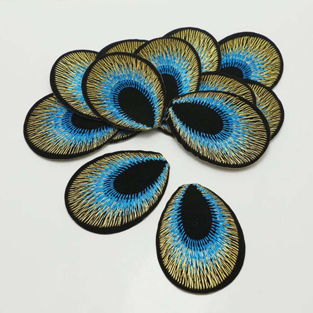BEAUTIFUL WHITE PLAIN PEACOCK Embroidered Iron on Patch Free Postage