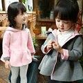 Crianças sudaderas cardigan com orelhas de coelho chapéu de inverno crianças casacos para meninas outono meninas bebê menina casaco com capuz