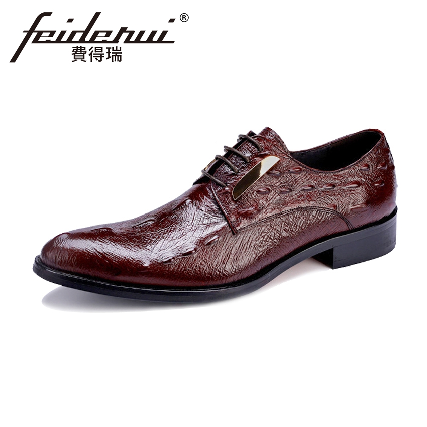 Plus Size Fashion Alligator Mens Footwear Round Toe Derby Man Handmade Wedding Flats Genuine Leather Formal Dress Shoes ASD91Plus Size Fashion Alligator Mens Footwear Round Toe Derby Man Handmade Wedding Flats Genuine Leather Formal Dress Shoes ASD91